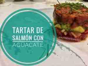 Tartar de salmón salvaje con aguacate y salsa de soja