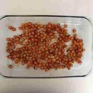 garbanzos condimentados con pimentón y aceite