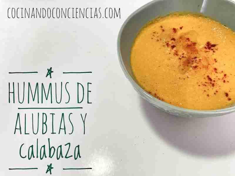 Vídeo-receta: Hummus de alubias y calabaza