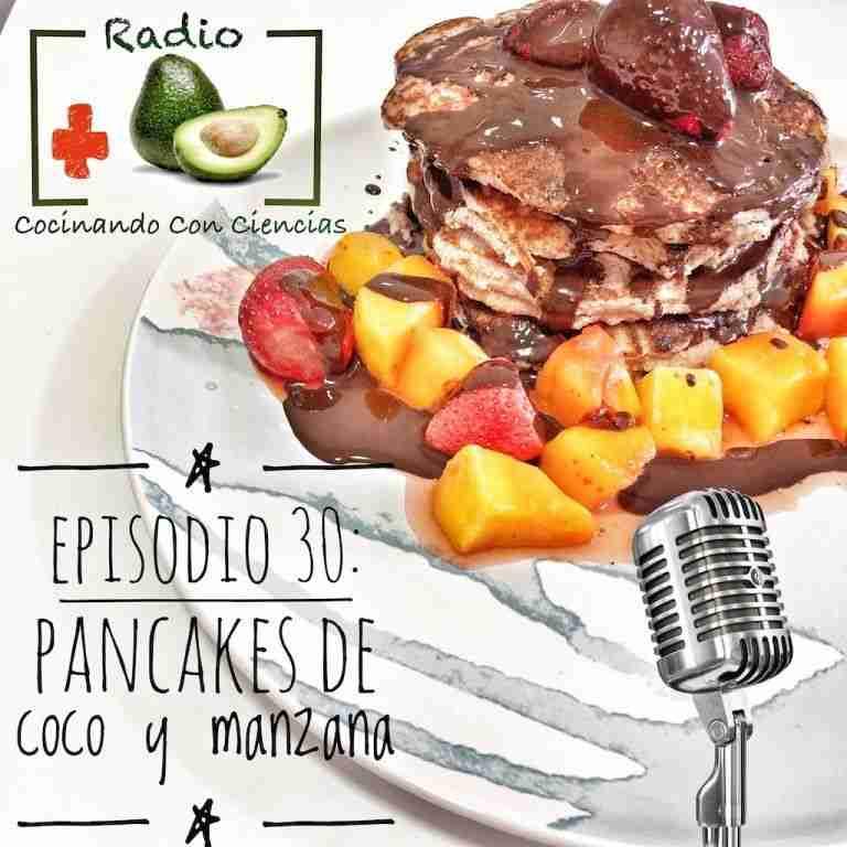 30. Pancakes de manzana y coco