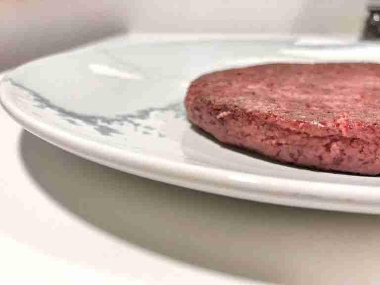 Hamburguesa vegana de alubias rojas