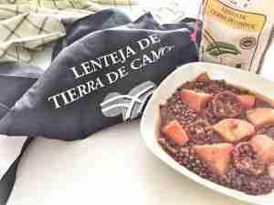 Lentejas con boniato y tomates secos en crokpot