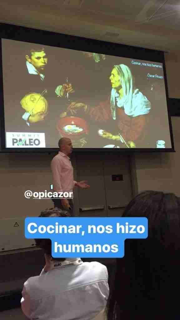 Oscar Picazo en su ponencia de Como Cocinar nos hizo humanos