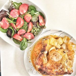 Pollo asado en crockpot (olla de cocción lenta)