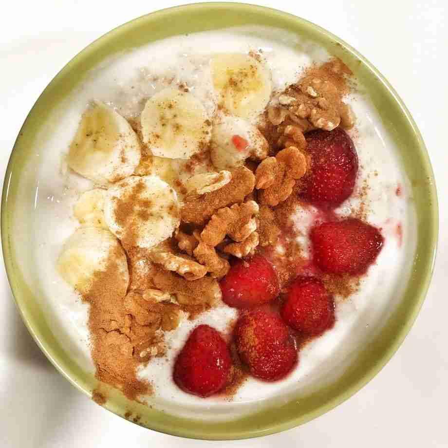 Porridge de avena con yogur