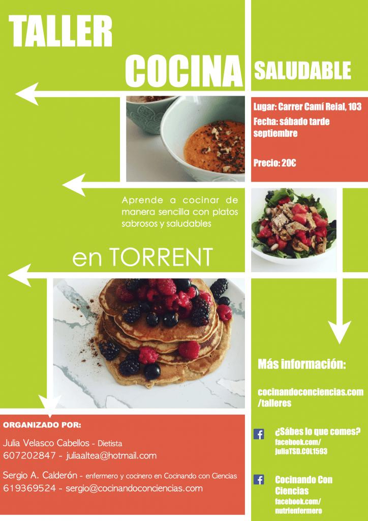 Taller de cocina saludable en Torrent Valencia