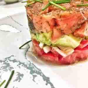 calorias tartar de salmon con aguacate