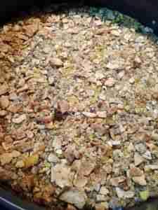 Base de la tarta de calabaza y frambuesa
