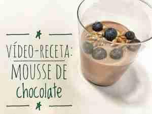 mousse de chocolate fácil y saludable