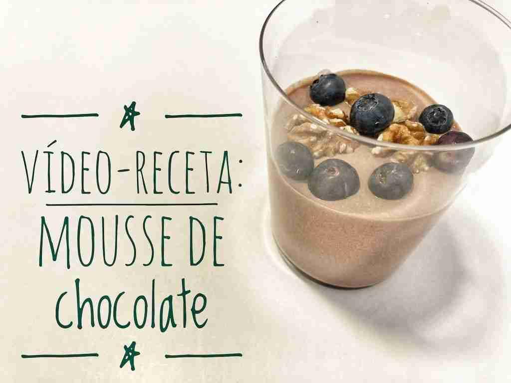 Mousse de chocolate fácil y saludable: vídeo-receta